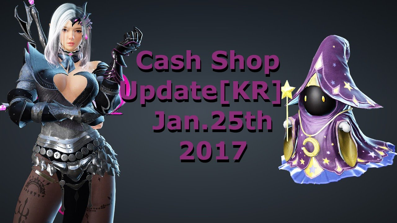Black Desert Online - Dark knight awaken outfit+Wizard Ghost pet | Cashshop  update[KR] Jan 25th 2017