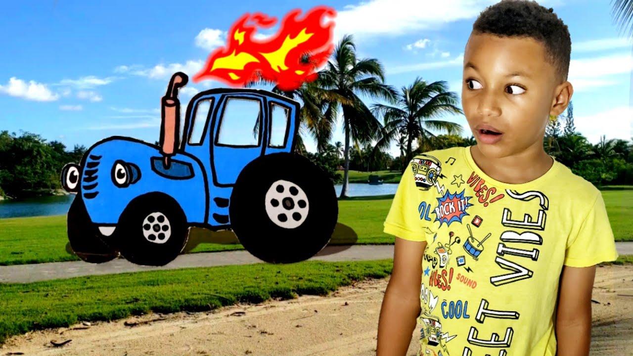 Синий трактор песенки для детей. Синий трактор учим цвета ...