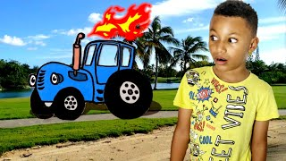 Синий трактор песенки для детей. Синий трактор учим цвета