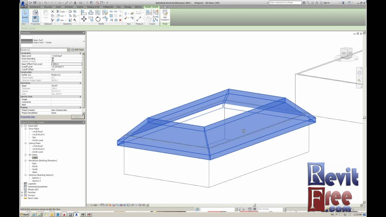 Mansard Roof In Revit Architecture Youtube