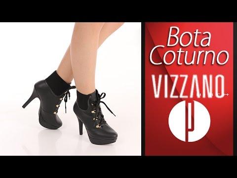 58e0338b23 Bota Coturno Feminina Vizzano - 6010420812 - YouTube