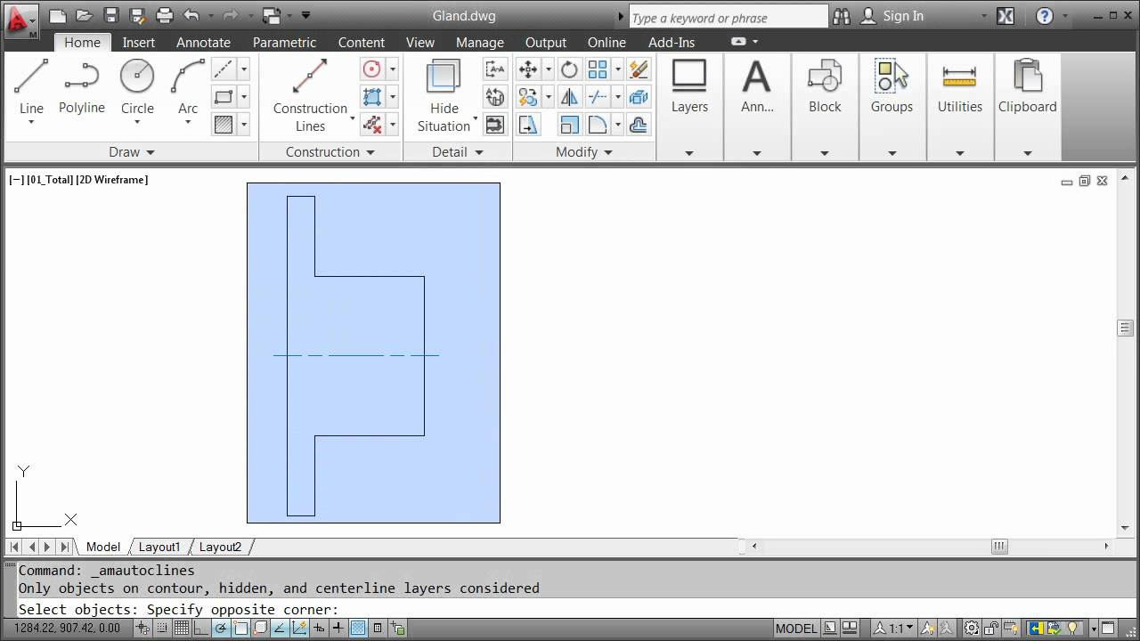 Drawing Commands — AutoCAD Mechanical 2012