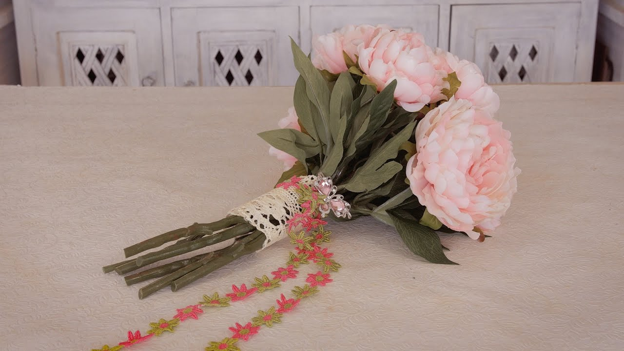 How To Make An Artificial Peony Bouquet Youtube