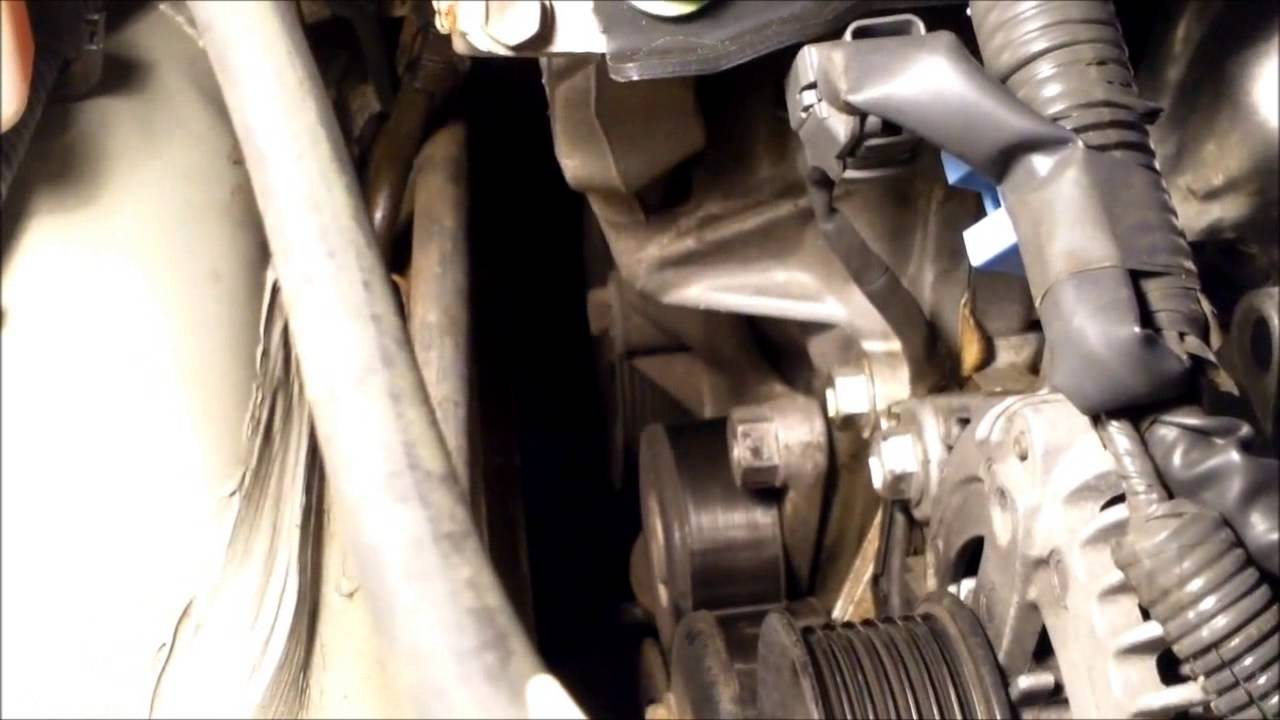 hight resolution of how to replace drive belt tensioner toyota camry fix it angel youtube