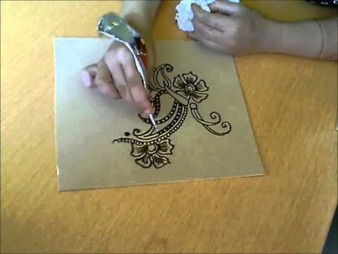 Mehndi Henna Butterfly : How to make a henna butterfly almas bridal youtube