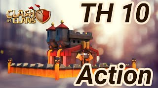 TH 10 Action | Hog rider, bowler, witch, lavaloon |  3 Star War Attack| COC clash of clans 2018