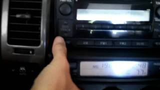 How to remove climate control panel (multi function display) - 2006 Toyota 4Runner