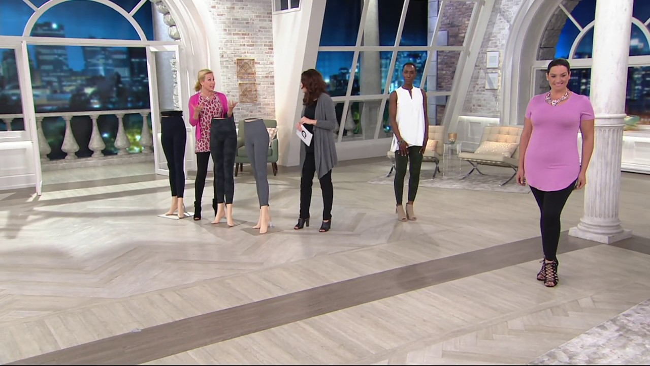 9b66d1b45 Spanx Look at Me Now Seamless Leggings on QVC - YouTube