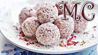 Trufle kokosowo różane wegańskie, bez glutenu - PRZEPIS – Mała Cukierenka - Maribel Biomarket