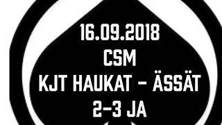 Juniori-Ässät - C1-joukkue - 16.09.2018 CSM KJT Haukat - Ässät Maalikooste