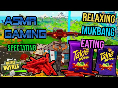 ASMR Gaming | Fortnite Takis Mukbang Crunchy Eating Spectating 먹방 🎮🎧 Relaxing Whispering 😴💤