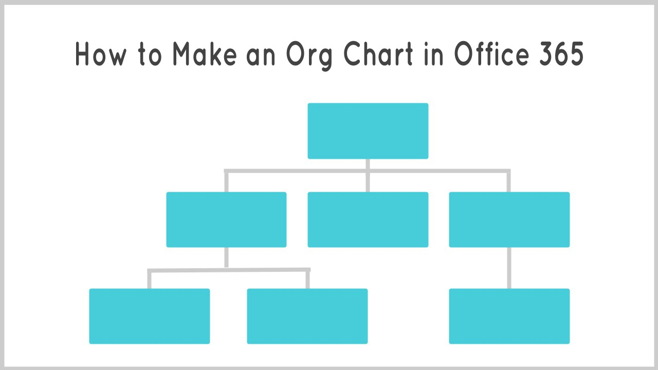 how to make an organization chart in office 365 youtube