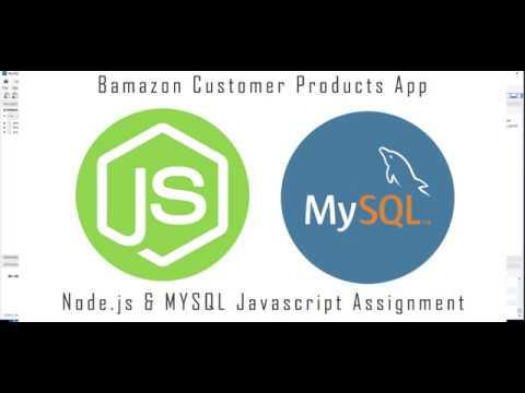 Node MYSQL - Bamazon Customer App Advanced Javascript