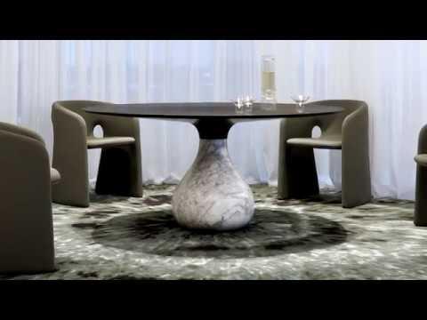 table de repas aqua roche bobois
