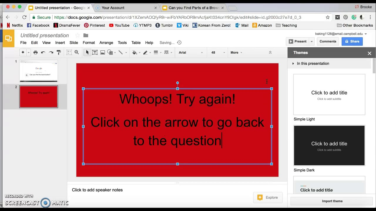 How To Make A Game In Google Slides