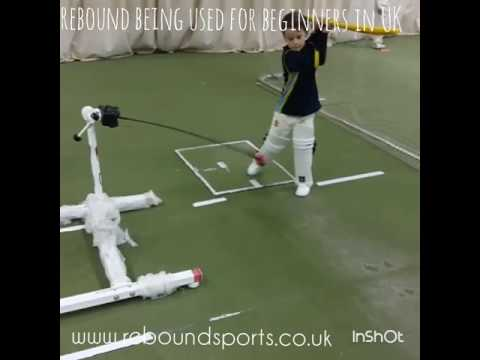 rebound cricket trainer being used for training beginners in UK