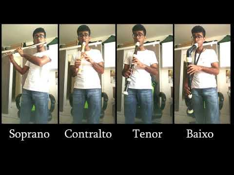 Hino 37 CCB - (Quarteto de flautas) Flauta Baixo, Tenor e Contralto