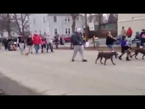 Ida, Michigan Holiday Hounds Christmas Dog Parade 2014