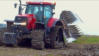 Ploughing | Case IH Puma 225 cvx on Soucy Tracks & Kverneland LO100 vario plow | De Nood