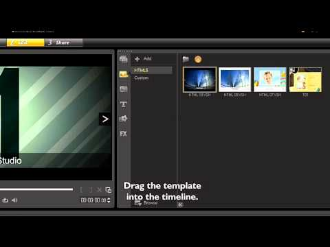 Creating HTML 5 Projects In Video Studio Pro X5