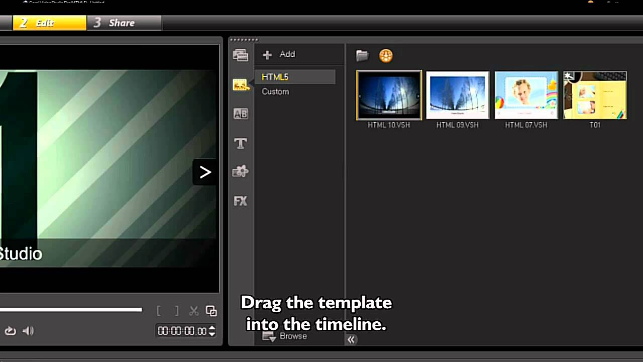 Creating HTML 5 Projects in Video Studio Pro x5 - YouTube