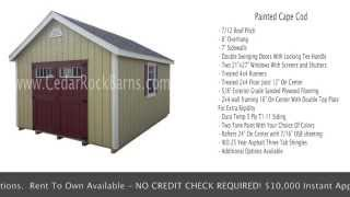 Painted Cape Cod Portable Building