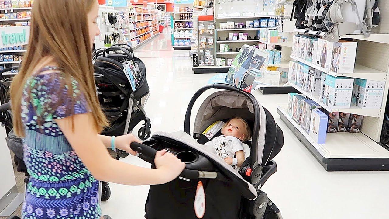 Shopping For Reborn Baby Stroller For My New Reborns Youtube