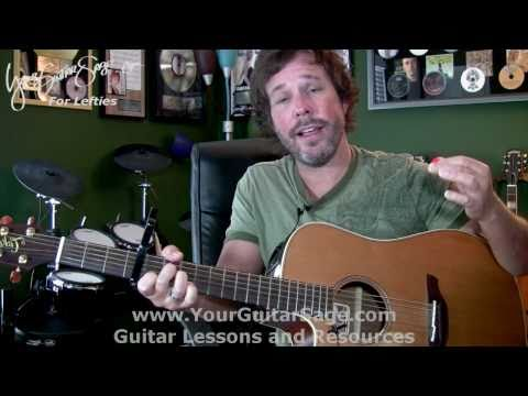 Falling For You - Colbie Caillat - Lefty Beginner Acoustic Guitar Lesson