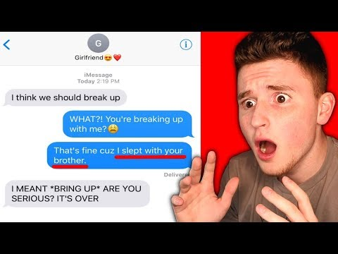 AUTOCORRECT FAIL TURNS INTO ACTUAL BREAK UP!