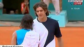 Rafael Nadal vs Juan Martin Del Potro 2007 Roland Garros R1 Highlights