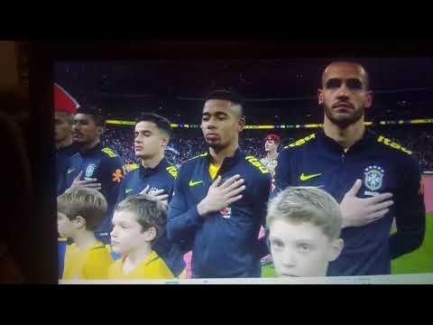 England Vs Brazil Wembley Stadium 2017 - Mascots