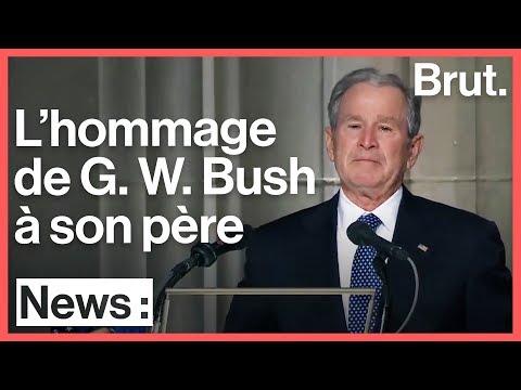 Le discours émouvant de George W. Bush en hommage à son père