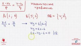 Математика без Ху%!ни. Уравнения прямой. Часть 2. Каноническое, общее и в отрезках.