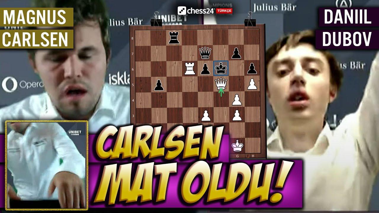 CARLSEN SİNİRDEN LAPTOP KIRIYOR!(Görüntülerle)  MAT OLDU ve ELENDİ!   Magnus Carlsen vs Daniil Dubov