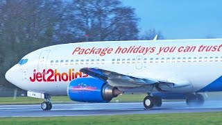 Jet2 Boeing 737-300 G-GDFM East Midlands Airport Take Off [1080p HD]