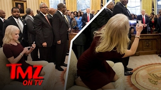 Kellyanne Conway Put Her Feet All Over The Oval Office Couch and Twitter Went Crazy | TMZ TV