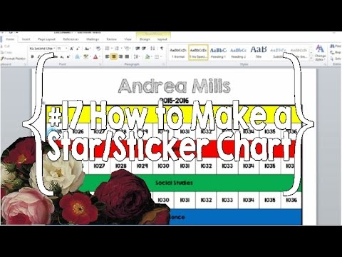 how to make a sticker chart