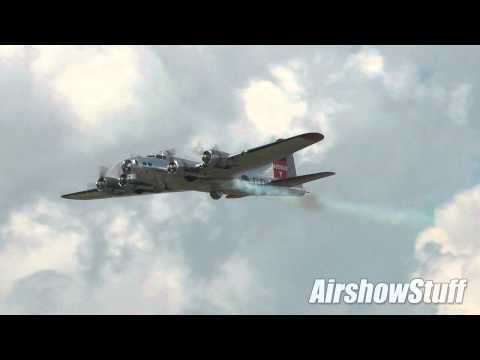 B-17 Flying Fortress Flybys - Waterloo Airshow 2014