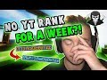 NO YT RANK FOR A WEEK! ( Hypixel Skywars )