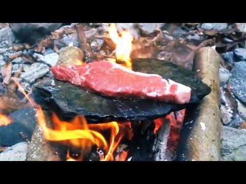 【石 焼肉】石焼きステーキ【サバイバル アウトドア料理】