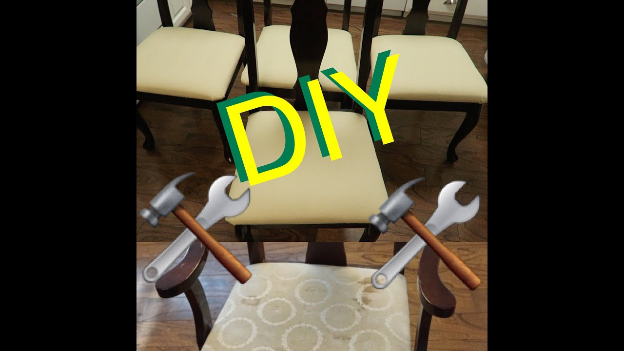 How To Reupholster a Dining Room Chair - YouTube