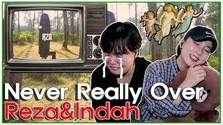 "[REAKSI] JEESUN ORANG KOREA ""Never Really Over Cover by. Reza & Indah Aqila"" [SUB : IDN, KOR]"