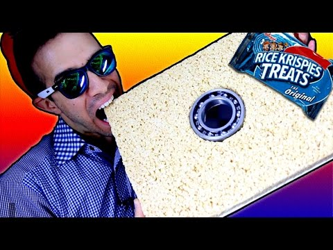 DIY Make a Fidget Spinner GIANT Rice Krispies Treats! How to Make Spinners Tutorial!