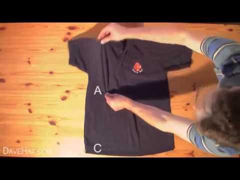 Come Piegare Le Maglie.Come Piegare Una Maglia In 1 Secondo Tutorial Youtube