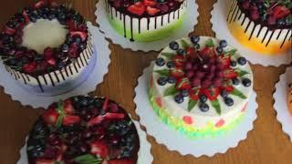 Кондитерский Мастер - класс Надежды Зубовой | Бисквитные торты и современные украшения (Без мастики)