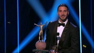 Guldbollen till Zlatan för tionde året i rad - TV4 Sport