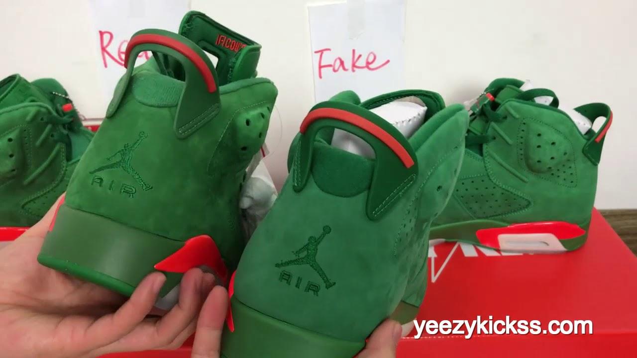 3ea8c84dfab Real vs Fake comparation Air Jordan 6