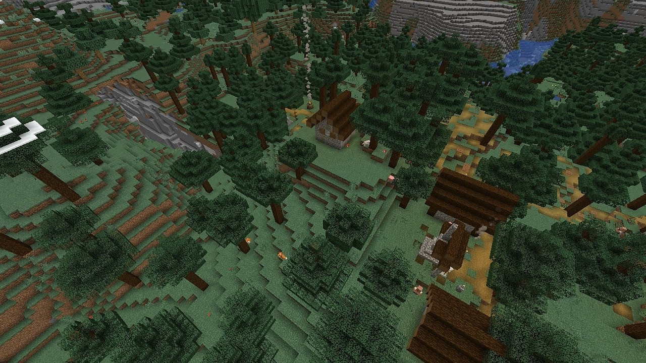 Minecraft 114 Seed 179 Hilltop Village Ravine Deep Cave System