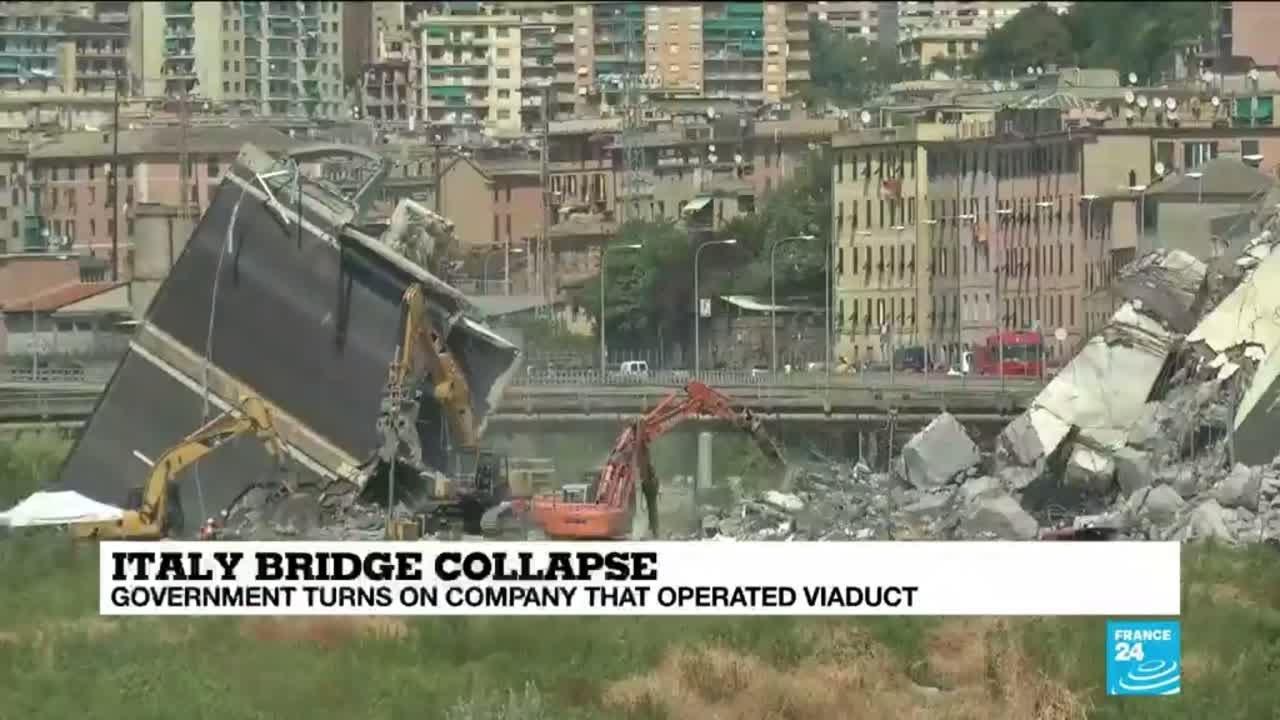 فرانس 24:Italy bridge collapse: witnesses and locals suffering from trauma