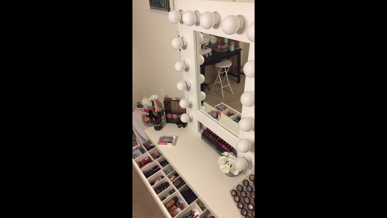 Diy Vanity Girl Mirror With Lights Youtube